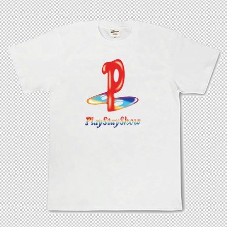 Play Stay Show TEE White