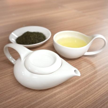 Simple&Modern瀬戸焼「茶師(急須・湯呑)」&深蒸し煎茶 おひとり様向けセット【純】