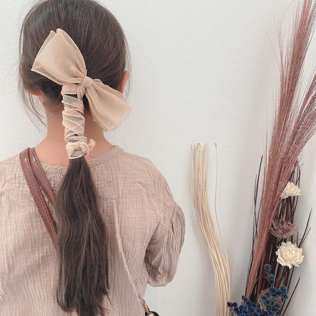 再再再入荷【16color】シフォンリボンデザインヘアクリップ