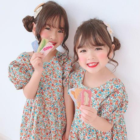 kids☻レディース ★刺繍デザインぱっちんヘアピン【5本セット】