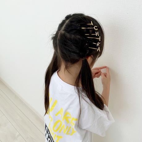 kids☻レディース ★英字デザインイニシャルヘアピン