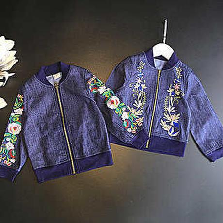 kids☻刺繍 denim jacket【兼用ok】