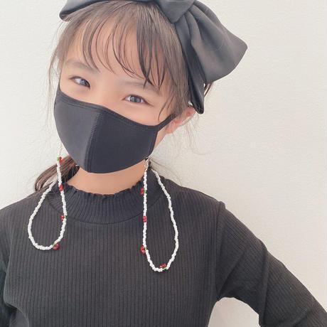 ☺︎kids ☺︎ ladies 【2design】ビーズデザイン マスク イヤホン 眼鏡ストラップ