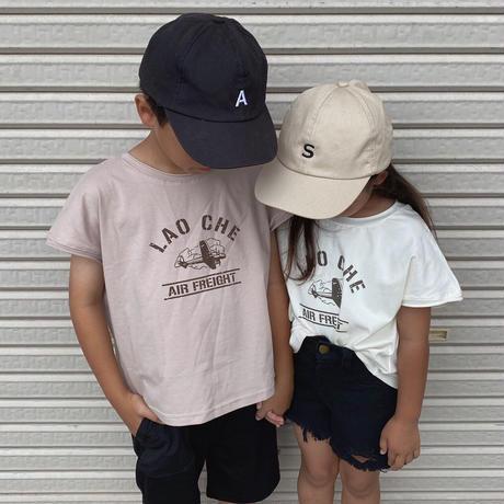 SALE☺︎ユニセックス【80-130】プリントデザインシンプルTeeシャツ【ベージュ】#1103
