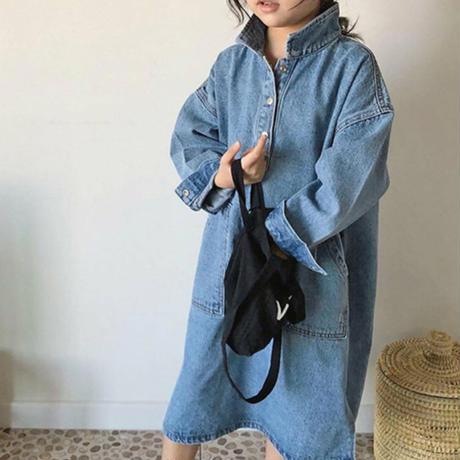 kids【80-130cm】シンプルデニムワンピース#832