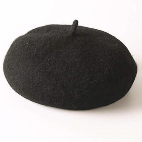 kidsユニセックス☻ベレー帽子  【ブラック】