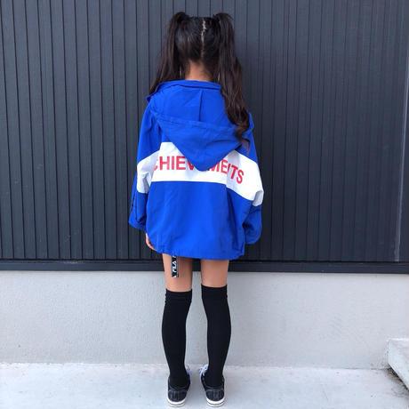 蘭様専用♥ブルートップス130.140 ブルーデザインジャンパー 130.140
