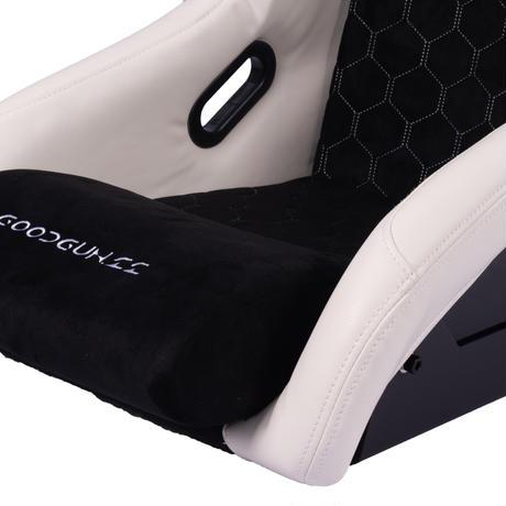 GoodGunオリジナル PVC/アルカンターラ調フルバケットシート カラー:ホワイト/ブラック