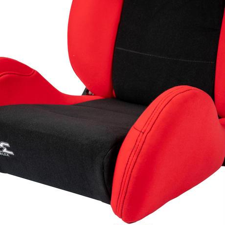 GoodGunオリジナル 標準生地 セミバケットシート カラー:レッド/ブラック