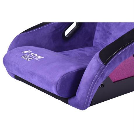 GoodGun×N-styleコラボ アルカンターラ調 フルバケットシート カラー:ムラサキ/ピンク
