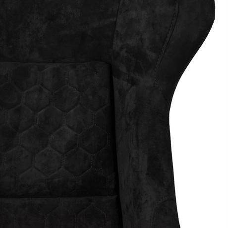 GoodGunオリジナル アルカンターラ調 フルバケットシート カラー:ブラック シェル:シルバーラメ