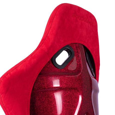 GoodGunオリジナル アルカンターラ調 フルバケットシート カラー:レッド シェル:レッドラメ