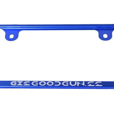 GoodGun アルミナンバーフレーム2枚セット カラー:ブルー