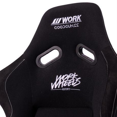 WORK WHEELS×GoodGunコラボモデル 標準生地 フルバケットシート カラー:ブラック