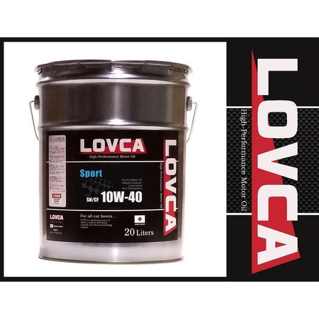 ラブカオイル LOVCA SPORT 10W-40 20L