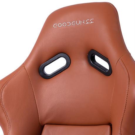 GoodGunオリジナル フェイクレザー生地 フルバケットシート カラー:ブラウン