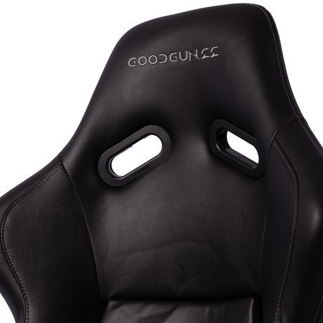 GoodGunオリジナル フェイクレザー生地 フルバケットシート カラー:ブラック