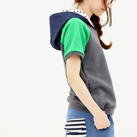 mixパーカー♡チャコール杢