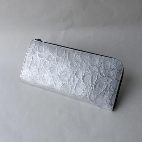 Neutral Gray アイスバーグ|長財布 Lファスナータイプ (silver)