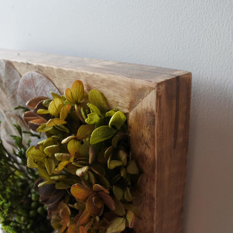 Botanical Arrange Wood Frame rectangular