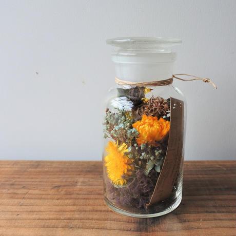 Botanical  glass cylinder arrange  002