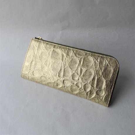 Neutral Gray アイスバーグ|長財布 Lファスナータイプ (gold)
