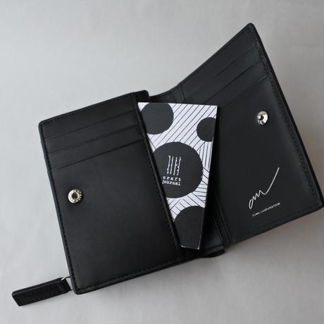 am [ sol創 ] 二つ折り財布(black)