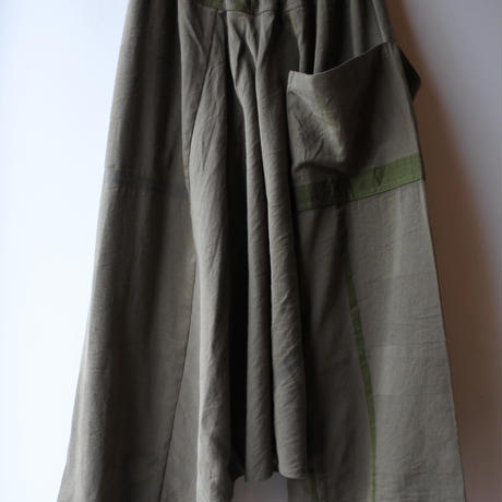 [tamaki niime]  きぶんシリーズ tarun pants-long(khaki)KI9-TPL