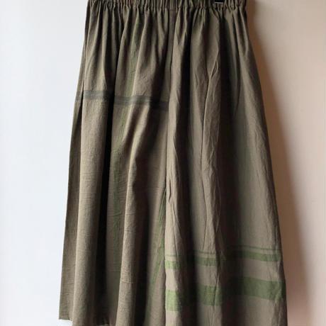 [tamaki niime] wide pants-short  WP-S-khaki