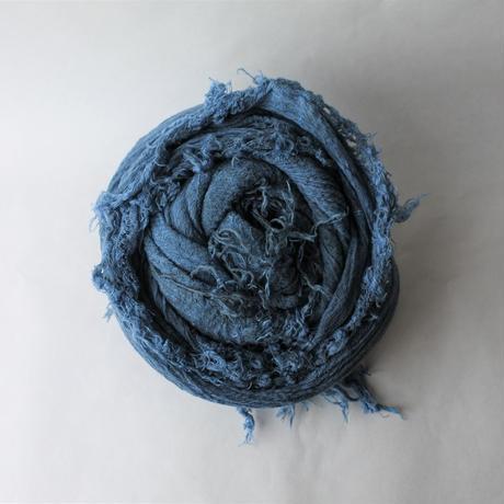 [tamaki niime]  きぶんシリーズ roots shawl-big(墨藍)KI8-CB