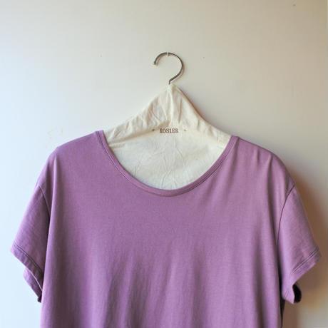 ROSIER コットンモダールTシャツ スモーキーピンク