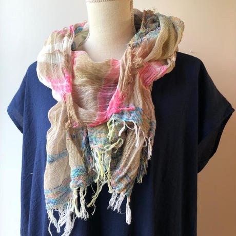 [tamaki niime] roots shawl-middle  RS-M-073