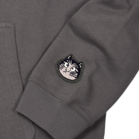 〔予約販売2021年10月下旬〜11月上旬発送予定〕猫楠パーカー Color チャコール