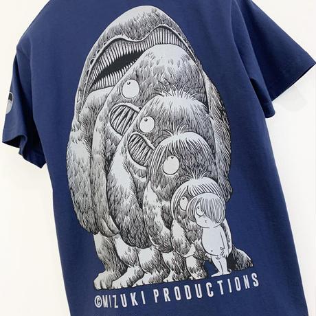 〔予約販売2021年5月下旬〜6月上旬発送予定〕[YokaiShop限定Ver]墓場の鬼太郎 大海獣 T-Shirts Color  濃藍