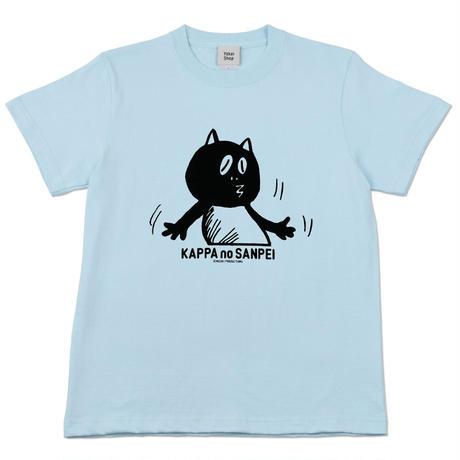〔予約販売2021年10月下旬〜11月上旬発送予定〕河童の三平 うっかりたぬき T-Shirts  Color  空色