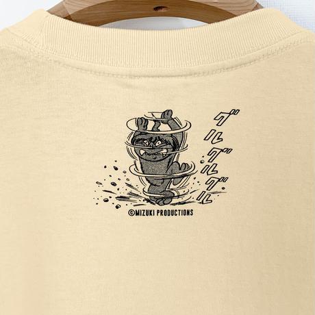 〔予約販売2021年5月下旬〜6月上旬発送予定〕ゲゲゲの鬼太郎 沖縄のシーサー T-Shirts Color  オレンジクリーム