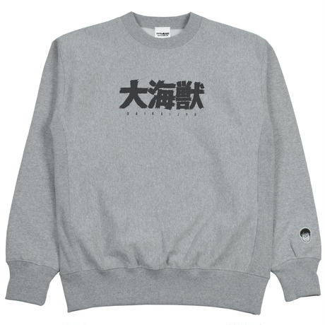 〔予約販売2021年10月下旬〜11月上旬発送予定〕[YokaiShop限定Ver]墓場の鬼太郎 大海獣スウェットシャツ Color グレー
