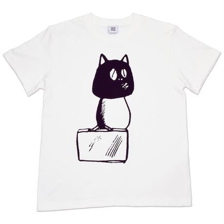 [予約販売]河童の三平バッグ持ちタヌキ T-Shirts(巾着袋付) Color  バニラホワイト