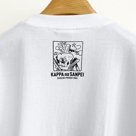 〔予約販売2021年10月下旬〜11月上旬発送予定〕河童の三平 金づちたぬき T-Shirts  Color  ホワイト