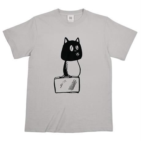 〔予約販売2021年10月下旬〜11月上旬発送予定〕河童の三平 カバン持ちタヌキ T-Shirts(巾着袋付) Color  ライトグレー