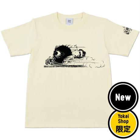 〔予約販売2021年10月下旬〜11月上旬発送予定〕[YokaiShop限定Ver]ゲゲゲの鬼太郎 妖怪ラリー バックベアード T-Shirts Color  亜麻色