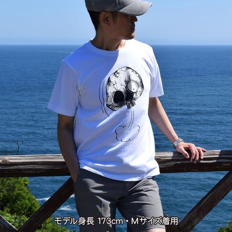 〔予約販売2021年6月下旬〜7月上旬発送予定〕墓場の鬼太郎 しゃれこうべ T-Shirts Color  ホワイト