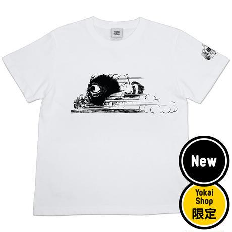 〔予約販売2021年10月下旬〜11月上旬発送予定〕[YokaiShop限定Ver]ゲゲゲの鬼太郎 妖怪ラリー バックベアード T-Shirts Color  ホワイト