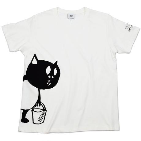 河童の三平 バケツ持ちたぬき T-Shirts(特製タグ付) Color  オフホワイト