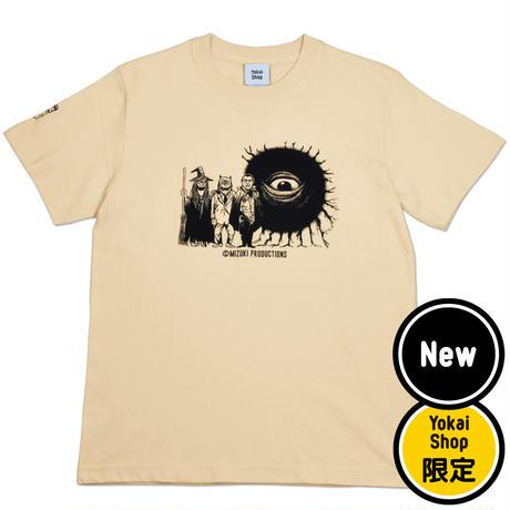 〔予約販売2021年5月下旬〜6月上旬発送予定〕[YokaiShop限定Ver]墓場の鬼太郎 妖怪大戦争 T-Shirts Color  オレンジクリーム