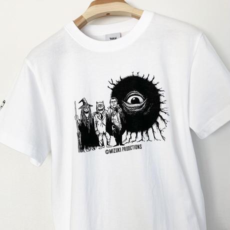 〔予約販売2021年5月下旬〜6月上旬発送予定〕[YokaiShop限定Ver]墓場の鬼太郎 妖怪大戦争 T-Shirts Color  ホワイト