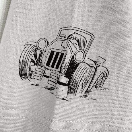 〔予約販売2021年10月下旬〜11月上旬発送予定〕[YokaiShop限定Ver]ゲゲゲの鬼太郎 妖怪ラリー バックベアード T-Shirts Color ライトグレー