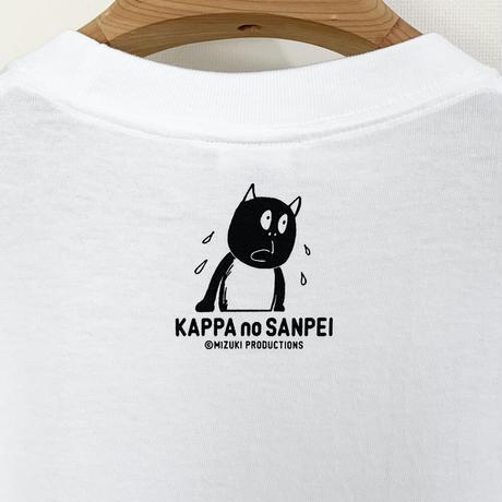 〔予約販売2021年5月下旬〜6月上旬発送予定〕河童の三平 うたたねたぬき T-Shirts Color  ホワイト