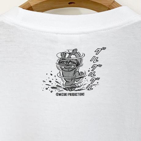 〔予約販売2021年5月下旬〜6月上旬発送予定〕ゲゲゲの鬼太郎 沖縄のシーサー T-Shirts Color  ホワイト