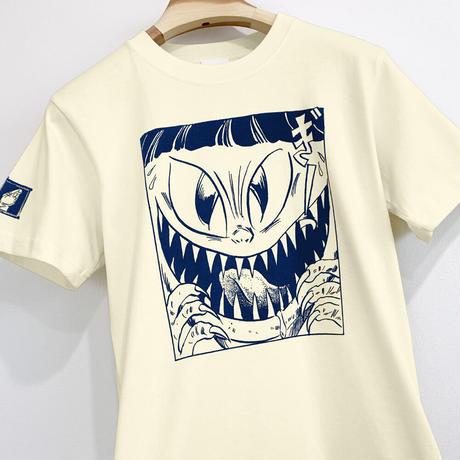 〔予約販売2021年10月下旬〜11月上旬発送予定〕[YokaiShop限定Ver]ゲゲゲの鬼太郎  猫娘 T-Shirts Color  亜麻色